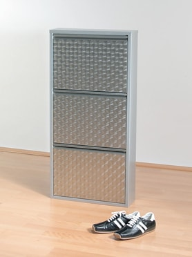 Shoe Rack Caruso 3 Silver brushed